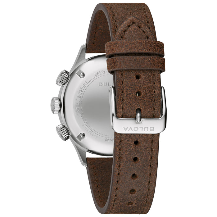 Bulova A-15 Pilot Automatic Brown Black angled shot picture