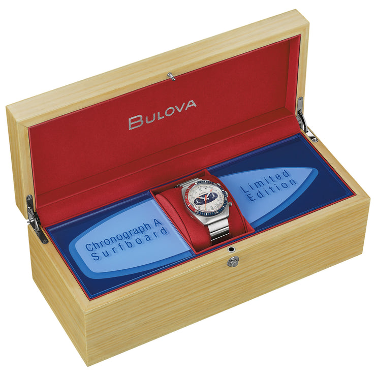 Bulova Chronograph A Swiss Automatic Limited Edition Silver