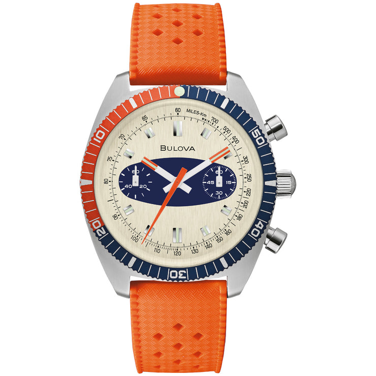 Bulova Chronograph A Surfboard Orange