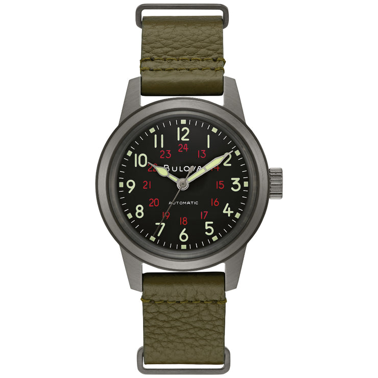 Bulova Hack Automatic Gunmetal Green