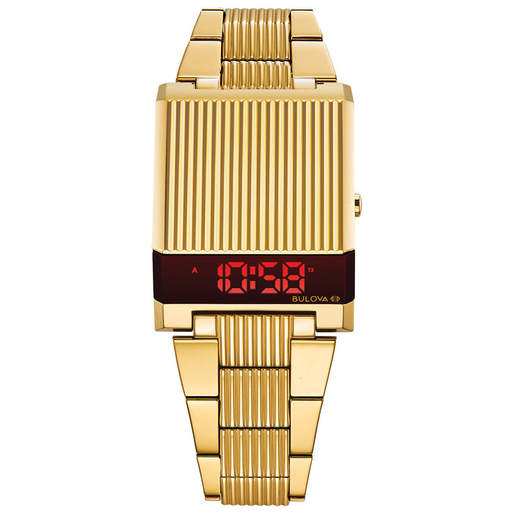 Bulova Computron LED Gold
