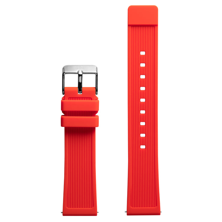 California Watch Co. 20mm Red Silicone Strap