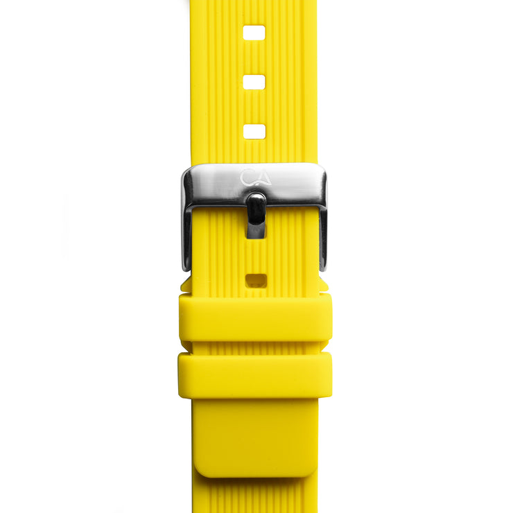 California Watch Co. 20mm Yellow Silicone Strap