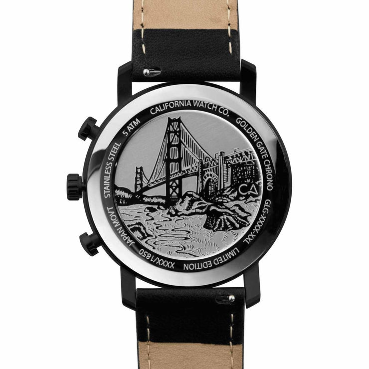 California Watch Co. Golden Gate Chrono Leather All Black Gold
