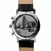 California Watch Co. Golden Gate Chrono Leather Silver Black