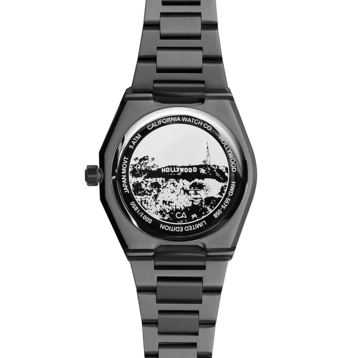 California Watch Co. Hollywood 32 All Gunmetal angled shot picture