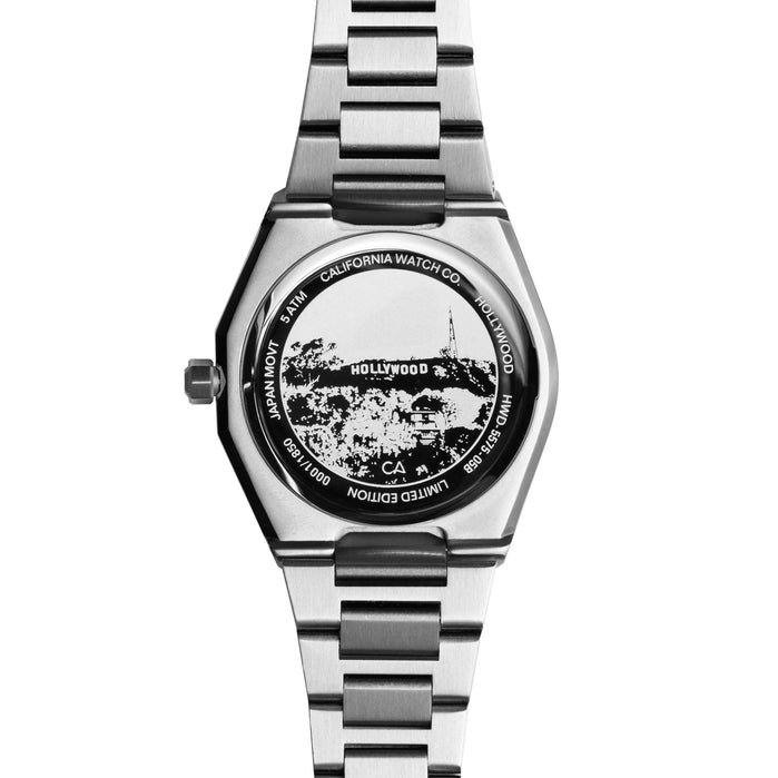 California Watch Co. Hollywood 32 All Silver angled shot picture