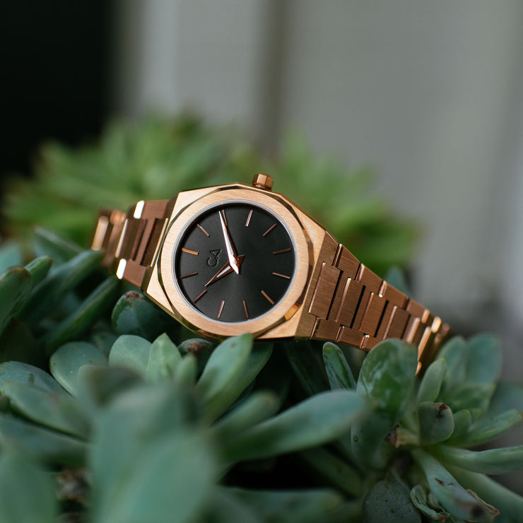 California Watch Co. Hollywood 32 Rose Gold Black