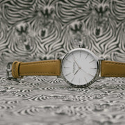 California Watch Co. Laguna 34 Leather Natural White