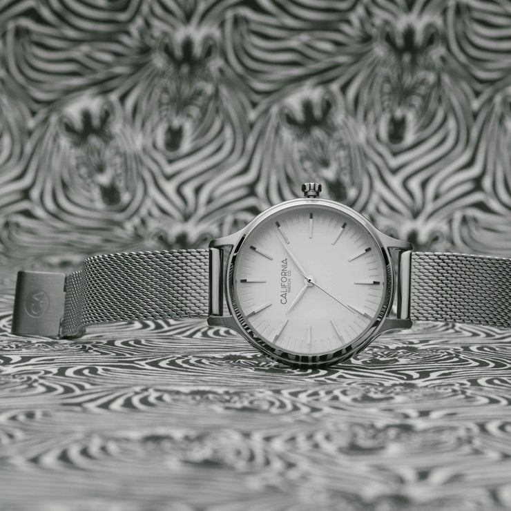 California Watch Co. Laguna 34 Mesh Silver White
