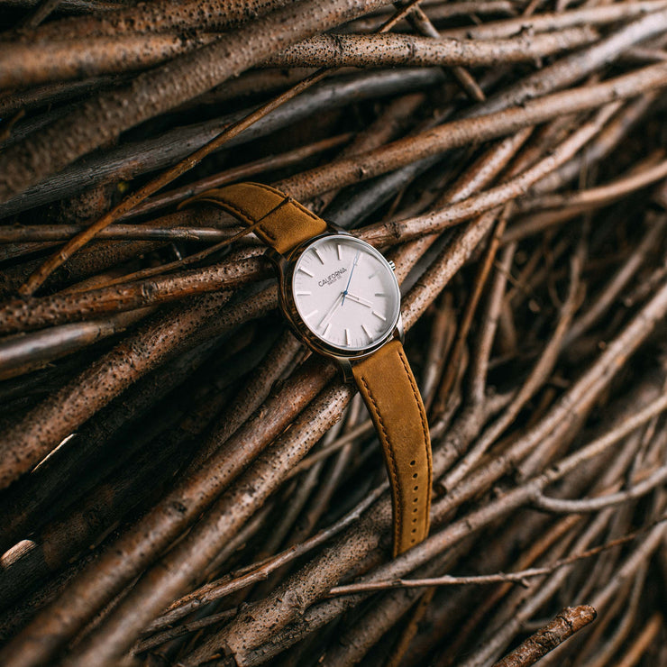 California Watch Co. Laguna 40 Leather Sand White