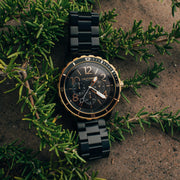 California Watch Co. Mavericks Chrono SS All Black Gold