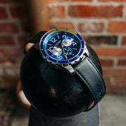 California Watch Co. Mavericks Chrono Leather Navy Yellow