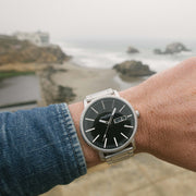 California Watch Co. Mojave SS Silver Black Smoke