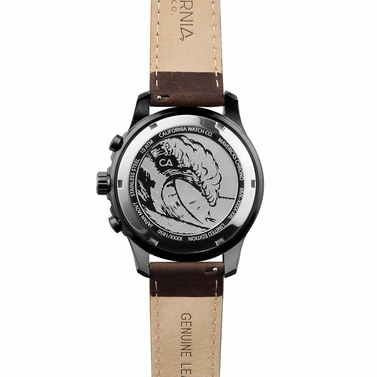 California Watch Co. Mavericks Chrono Leather Gunmetal Brown