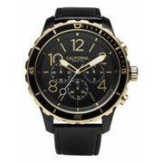 California Watch Co. Mavericks Chrono Leather All Black Gold
