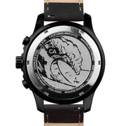 California Watch Co. Mavericks Chrono Leather All Black Red