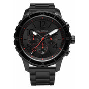 California Watch Co. Mavericks Chrono SS All Black Red