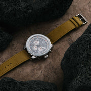 California Watch Co. Mavericks Chrono Leather Sand Gray White