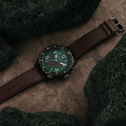 California Watch Co. Mavericks Chrono Leather Dark Brown Green