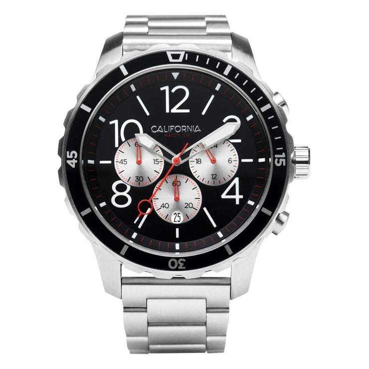 California Watch Co. Mavericks Chrono SS Silver Black
