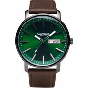 California Watch Co. Mojave Leather Dark Brown Green