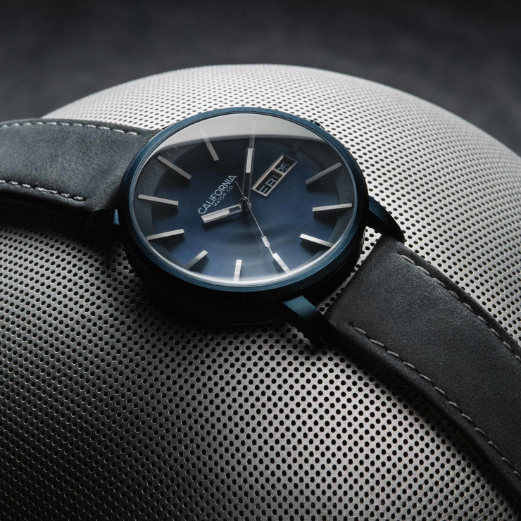 California Watch Co. Mojave Leather Deep Blue Gray