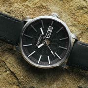 California Watch Co. Mojave Leather Silver Black Smoke