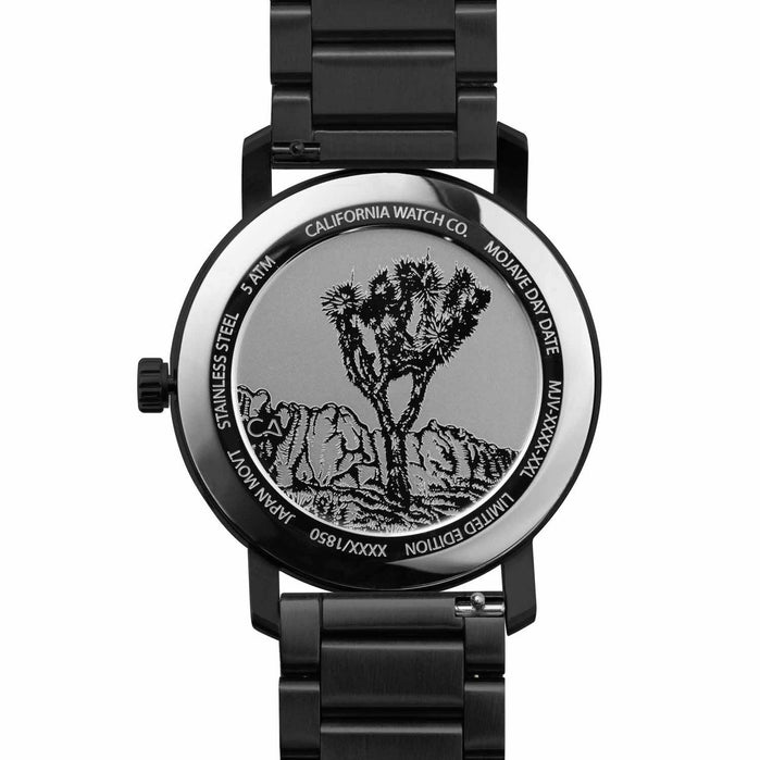 California Watch Co. Mojave SS All Black Smoke angled shot picture