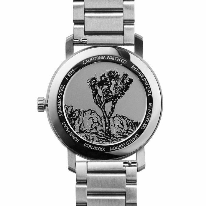California Watch Co. Mojave SS Silver angled shot picture