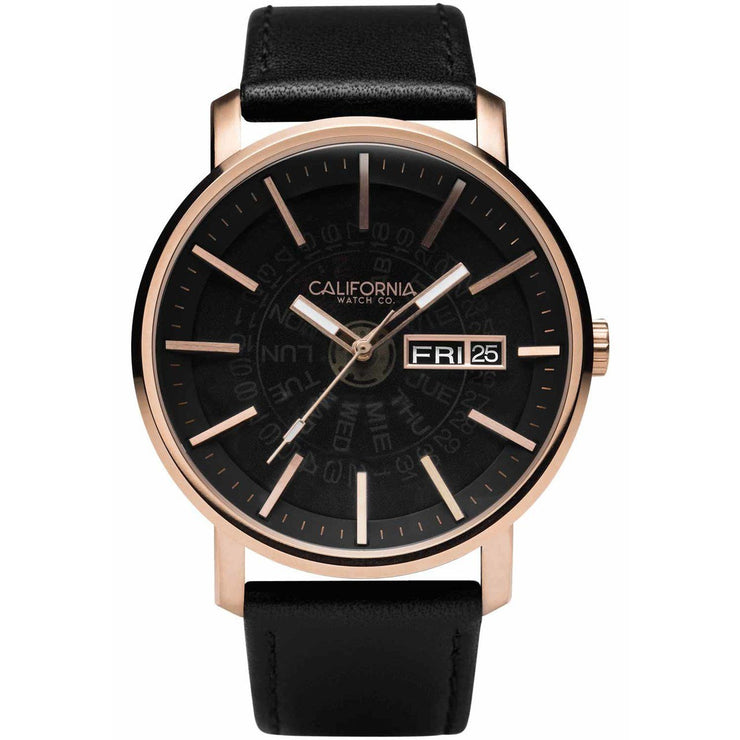 California Watch Co. Mojave Leather Rose Gold Smoke