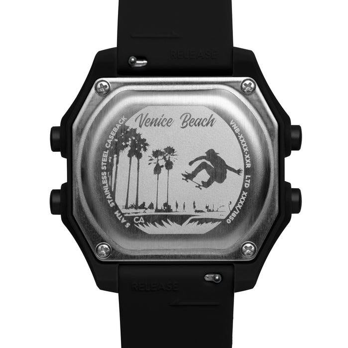 California Watch Co. Venice Beach Digital Black angled shot picture