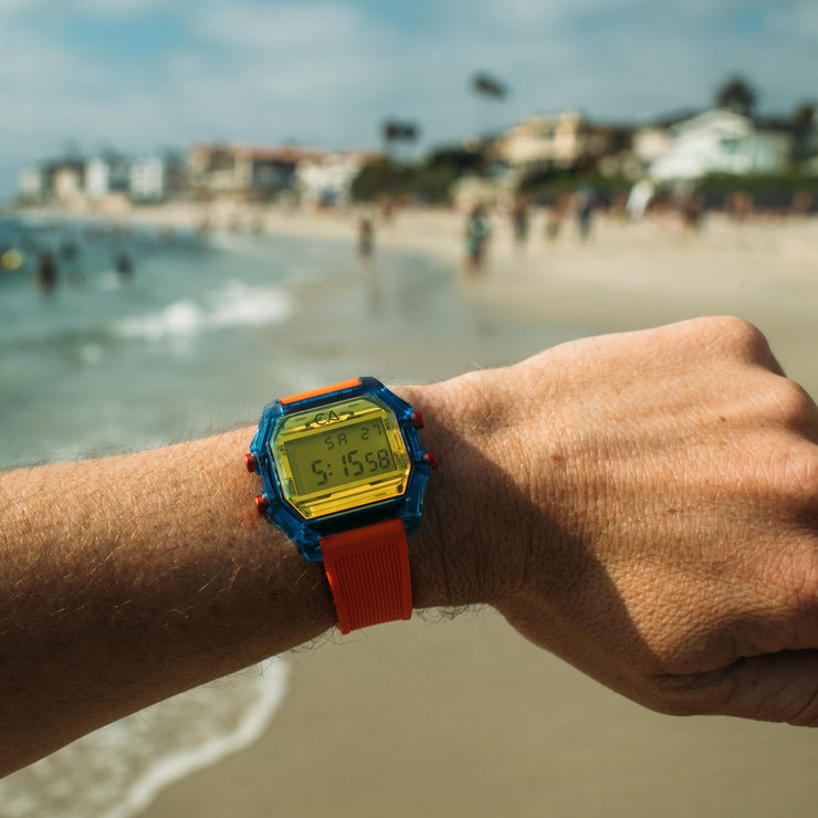 California Watch Co. Venice Beach Digital Blue Orange