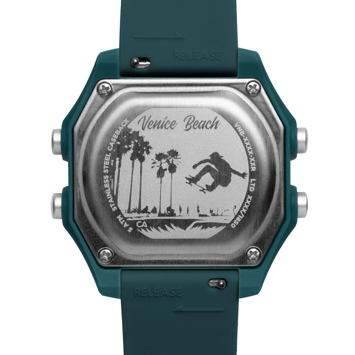 California Watch Co. Venice Beach Digital Pacific Green angled shot picture