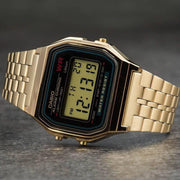 Casio Vintage Digital Black Gold