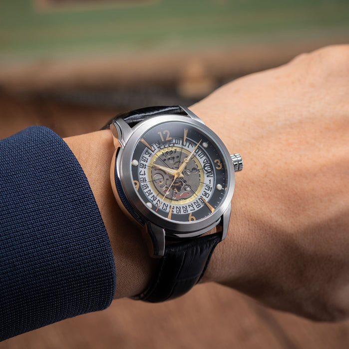 CCCP Sputnik-1 Automatic Silver Black Gold angled shot picture