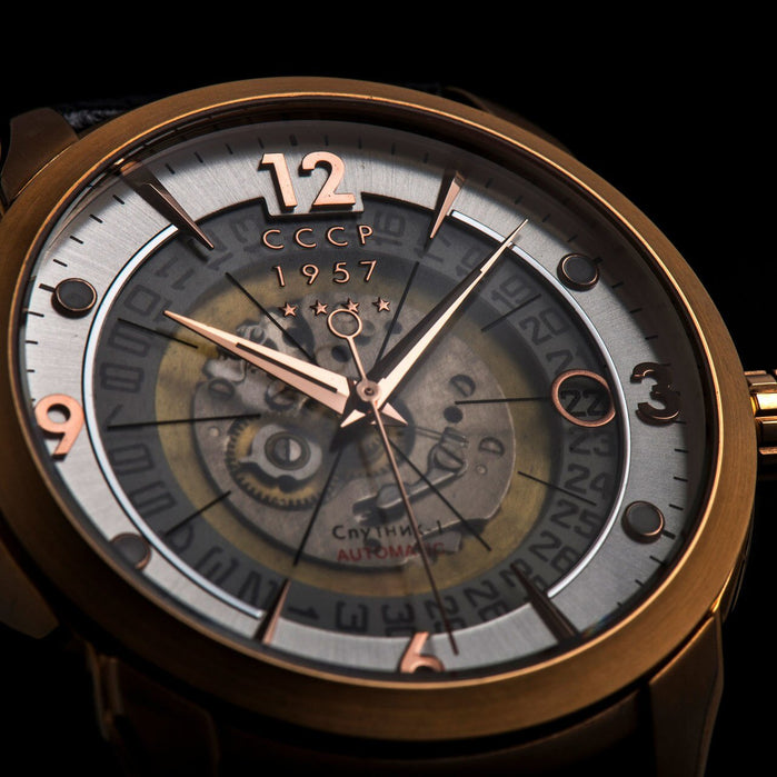 CCCP Sputnik-1 Rose Gold Black angled shot picture