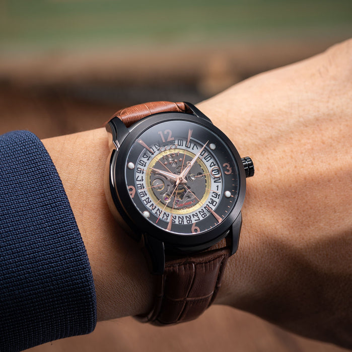 CCCP Sputnik-1 Automatic Black Brown Rose Gold angled shot picture