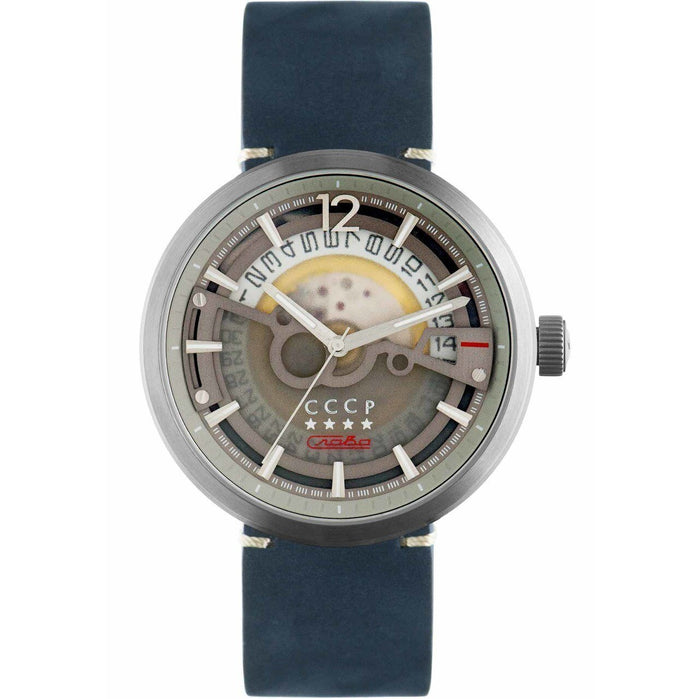 CCCP Kashalot Dress Automatic Silver Blue angled shot picture