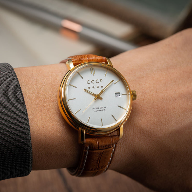 CCCP Heritage Automatic Gold Brown Silver