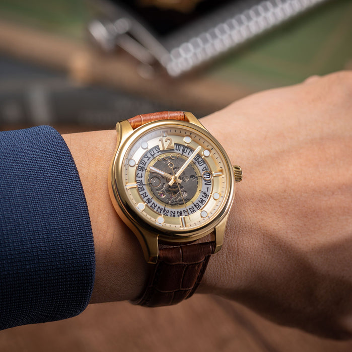 CCCP Sputnik-2 Automatic Gold Brown angled shot picture