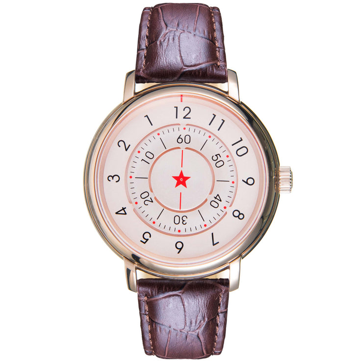 CCCP Aleksandrov Automatic Rose Gold Brown