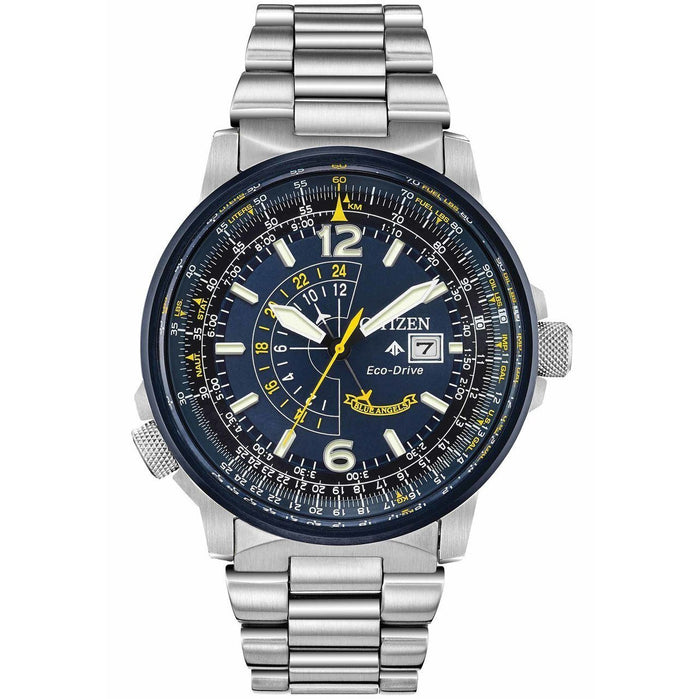 Citizen Eco-Drive Promaster Nighthawk Blue Angels Stainless Steel angled shot picture
