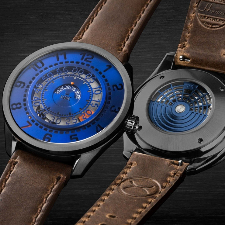 Xeric Cypher Automatic Tritium Blue Orange Limited Edition