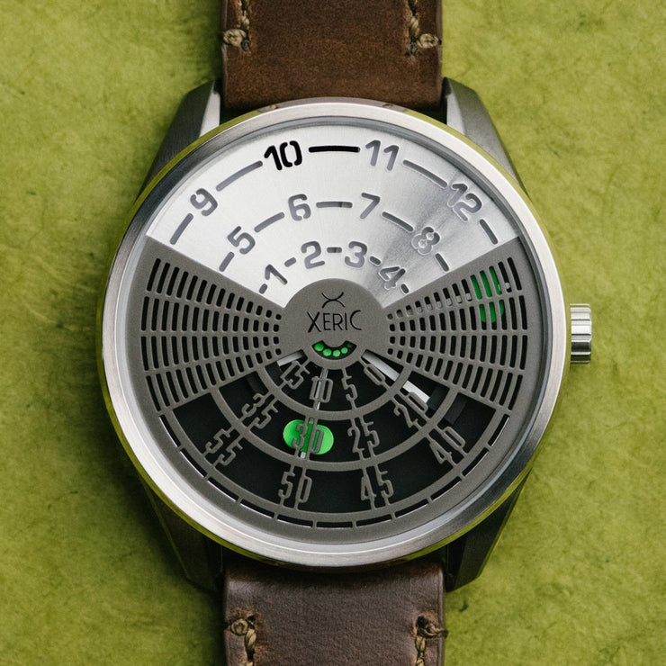Xeric Decypher Automatic Silver Green Limited Edition
