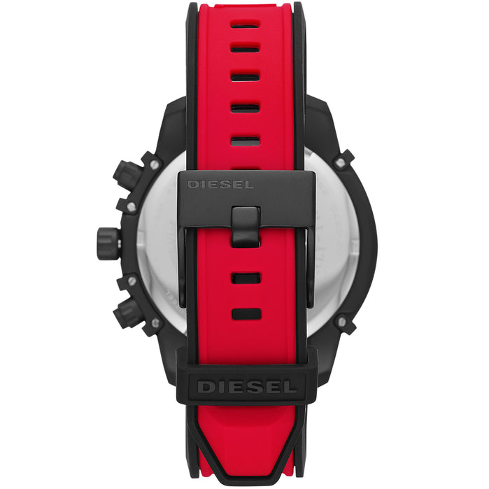 Diesel DZ4530 Griffed Chronograph Red Black angled shot picture