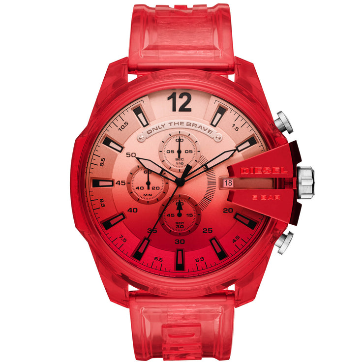 Diesel DZ4534 Mega Chief Chrono Red