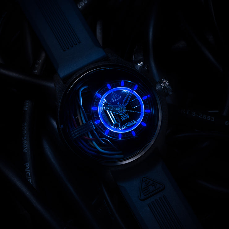 The Electricianz Carbon Z Black Blue Rubber