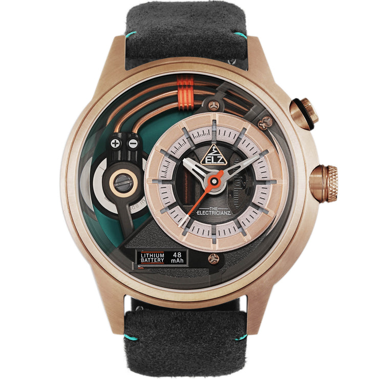 The Electricianz Cazino Rose Gold Green