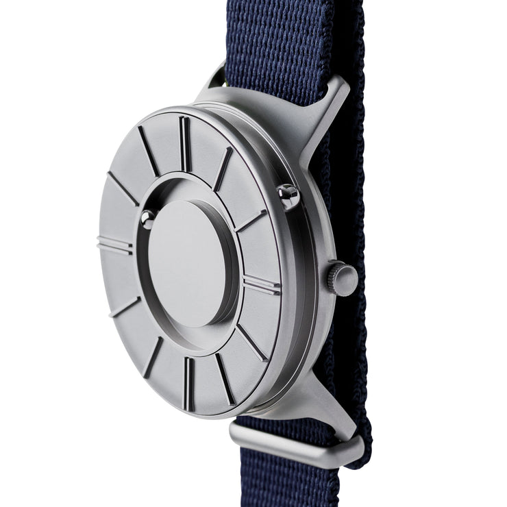 Eone Bradley Apex NATO Silver Midnight Blue